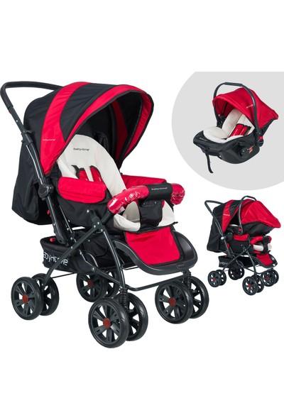 Baby Home Bh-555T Comfort Pedli Travel Sistem Bebek Arabası Kırmızı