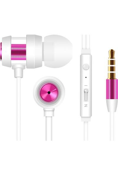 Snopy SN-J01 Mobil Telefon Uyumlu Kulak İçi Beyaz/Pembe Mikrofonlu Kulaklık
