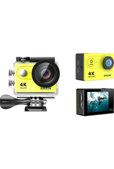 Eken H9R 4K Ultra HD Wifi Aksiyon Kamera -Sarı