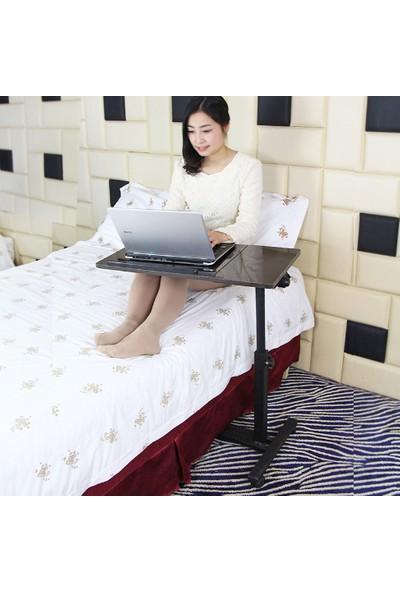 Hodbehod Mouse Bölmeli Portatif Katlanabilir Laptop Sehpası - Siyah