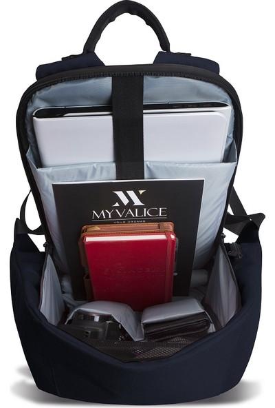 My Valice Smart Bag Secret Usb Şarj Girişli Akıllı Sırt Çantası Lacivert