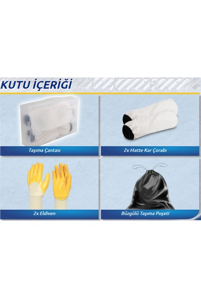 Matte Kar Çorabı® Classic / MEDIUM 245/50R/15 (Kanada Patentli)