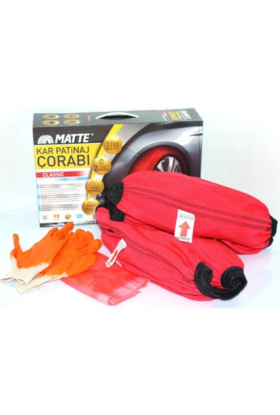 Matte Kar Çorabı® Classic / SMALL 165/80R/13 (Kanada Patentli)