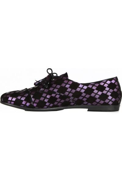 FootCourt Kadın Ayakkabısı Siyah-Mor 37
