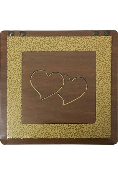 Teknoprof Kalpli Ahşap Çikolata Kutusu - Kare - Sarı