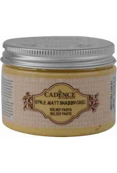 Cadence Açık Sarı Shabby Chic Rölyef Pasta 350 gr