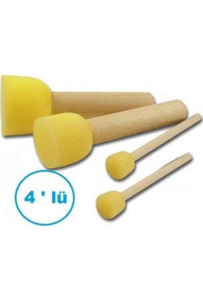 Rich 4lü Pompon Fırça Seti