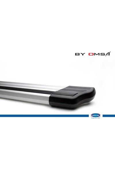 Fiat Doblo Elegance Arka Koruma (Alüminyum - Siyah Şeritli) (2010- )