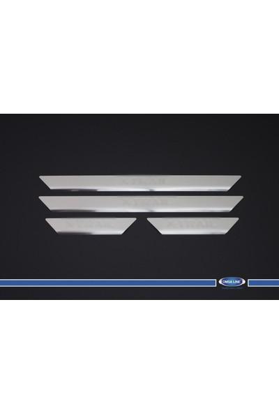 Nissan X-Trail Kapı Eşiği 4 Parça Paslanmaz Çelik 2005-2013