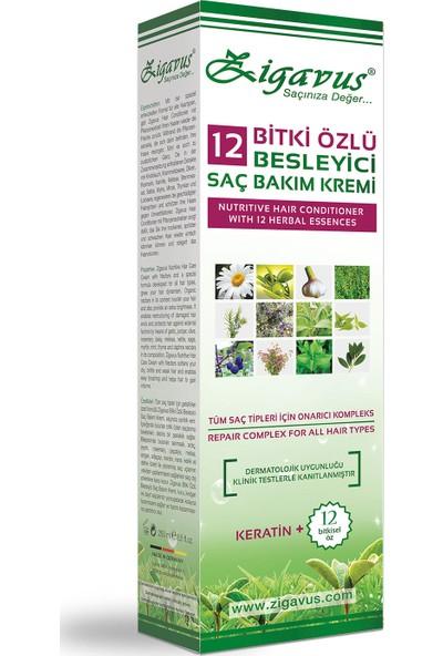 Zigavus 12 Bitki Özlü Besleyici Saç Kremi