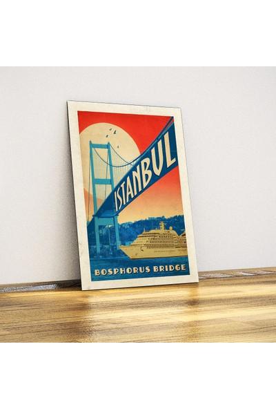 Javvuz İstanbul Boğazı - Dekoratif Metal Poster