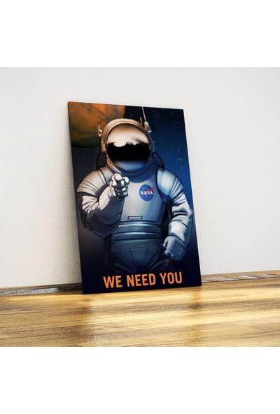 Javvuz We Need You - NASA - Dekoratif Metal Plaka