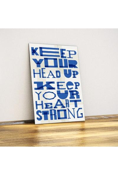 Javvuz Keep Your Head Up - Dekoratif Metal Plaka