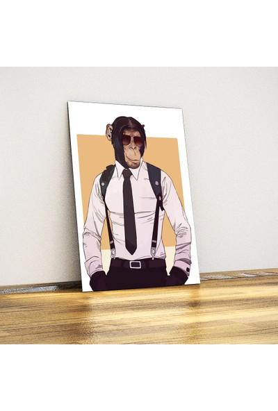 Javvuz Federal Maymun Dekoratif Plaka Poster