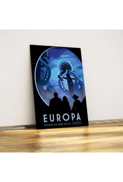 Javvuz Europa Moon - Metal Poster