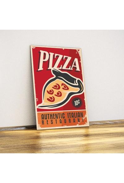 Javvuz Pizza - Retro Metal Plaka