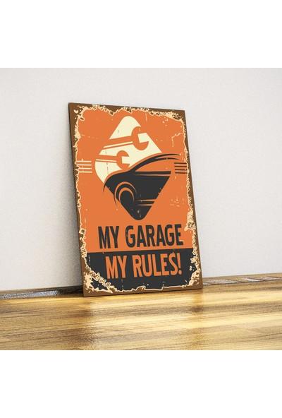 Javvuz My Garage My Rules - Retro Metal Plaka