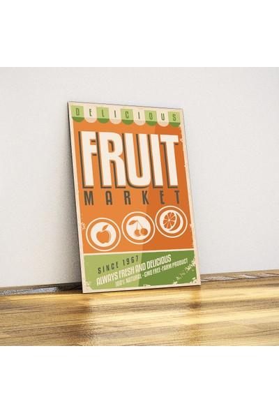 Javvuz Fruit Market - Retro Metal Plaka