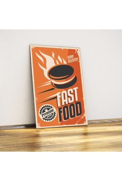 Javvuz Fast Food - Retro Metal Plaka