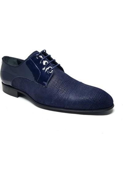 Shop And Shoes Erkek Ayakkabı Lacivert Rugan 075-9753