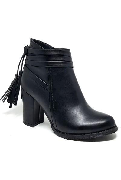 Shop And Shoes Kadın Bot Siyah 173-17410