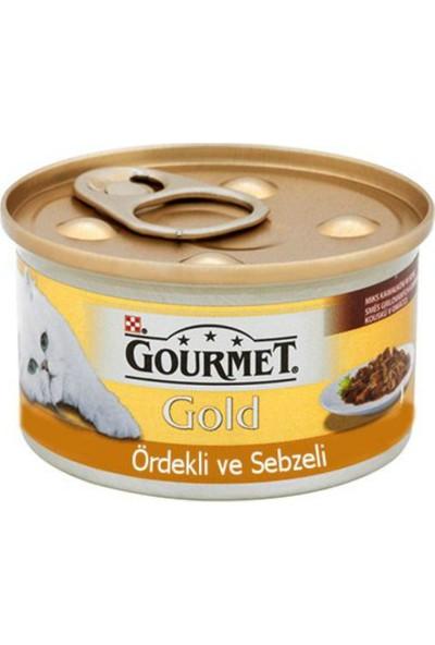 Gourmet Gold Kıyılmış Ördek Havuç Ve Sebzeli Kedi Konservesi 85 Gr X 24 Adet