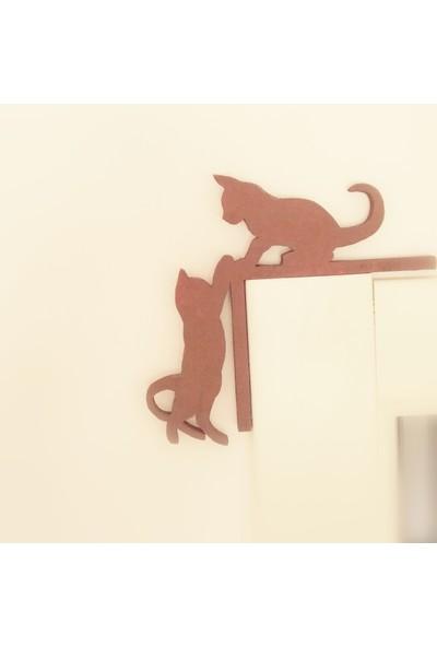 Oyuncak Ağacı Ahşap Yardımsever Kediler Duvar Dekoru