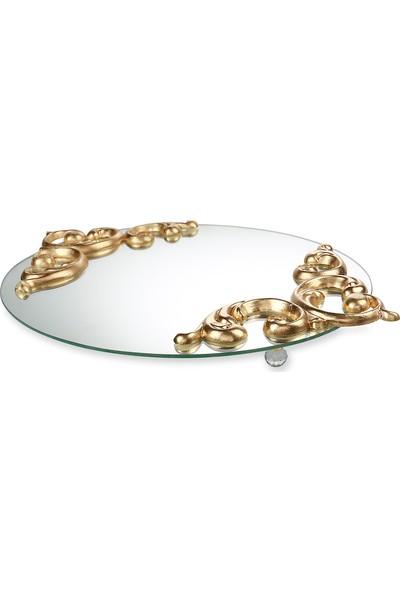 FArRBELA Aynalı Tepsi - Altın