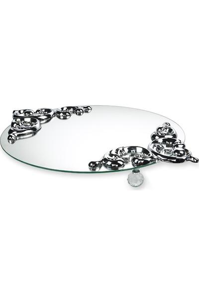 Düş Tasarım Aynalı Tepsi - Gümüş