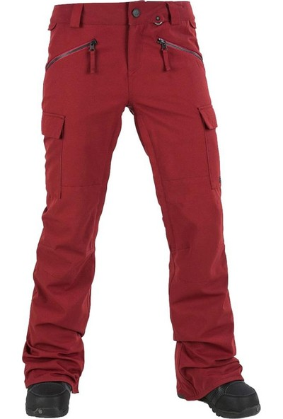 Volcom Robson Kadın Snowboard Pantolonu Kırmızı