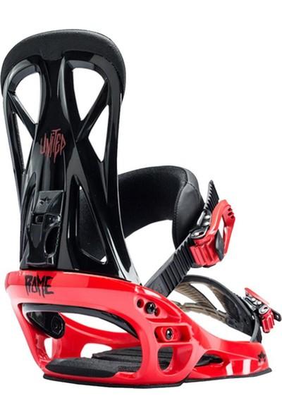 Rome United Snowboard Bağlaması Kırmızı
