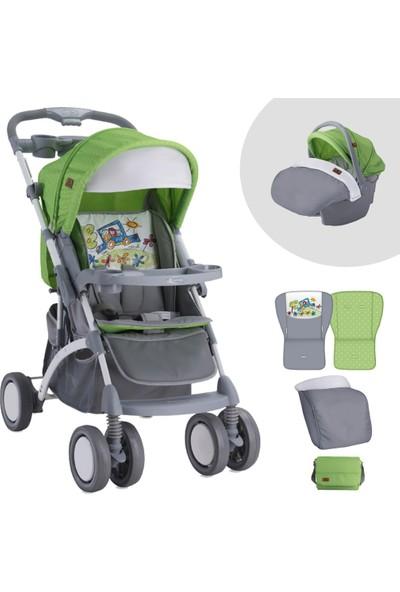 Lorelli Apollo Grey Green Travel Sistem Bebek Arabası