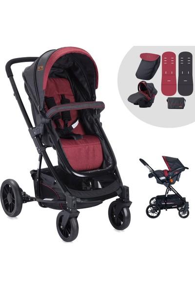 Lorelli S-500 Siyah Kırmızı Travel Sistem Bebek Arabası
