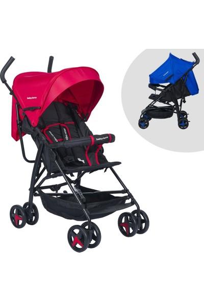 Baby Home BH-103 Tam Yatar Siyah Kırmızı Baston Bebek Arabası