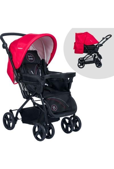 Baby Home BH-111 Tepsili Çift Yönlü Kırmızı Bebek Arabası
