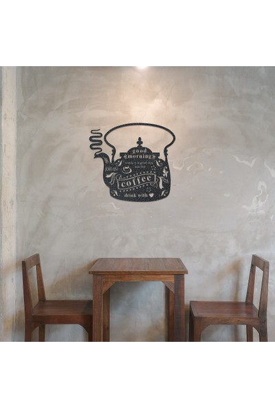 Dekoragel Coffee First Metal Duvar Dekoru