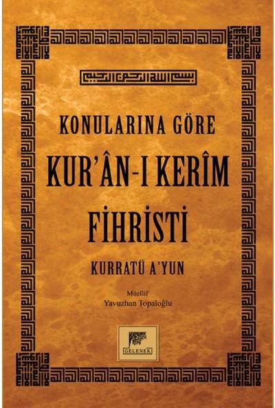Konularına Göre Kur'An-I Kerim Fihristi