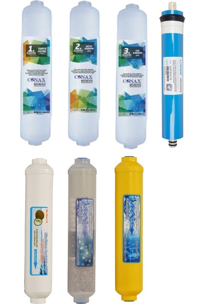 WaterGold İnline Su Arıtma Filtre Seti, Membran, Tatlandırıcı ve Mineral +