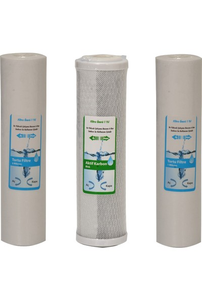 WaterGold Su Arıtma 5 ve 1 Micron Tortu ve Blok Aktif Karbon Filtre