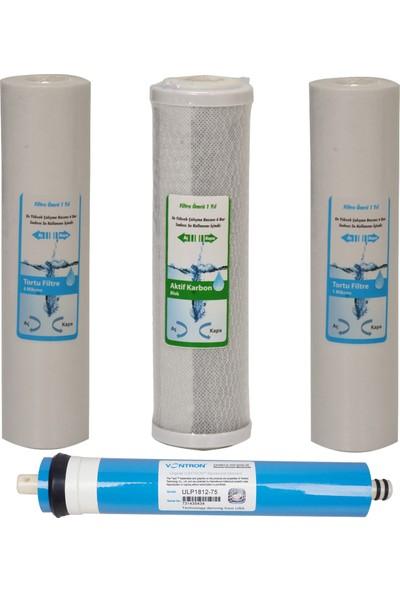 WaterGold Su Arıtma 5 ve 1 Micron Tortu, Blok Aktif Karbon ve Membran Filtre