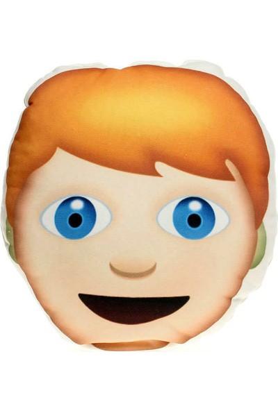 Hediye Mucidi Sarışın Çocuk Emoji Yastık