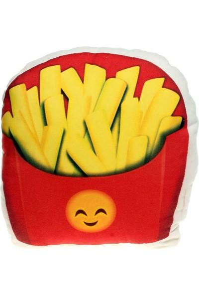 Hediye Mucidi Patates Kızartması Emoji Yastık