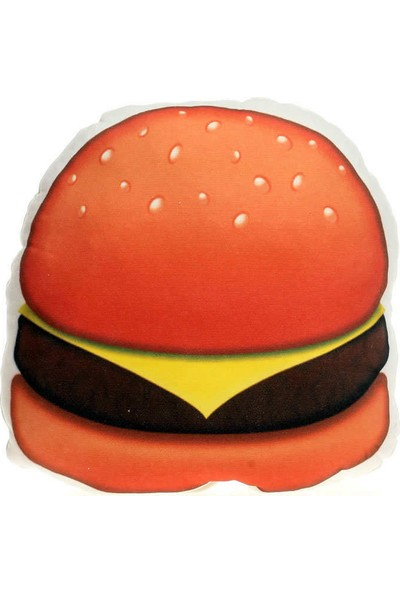 Hediye Mucidi Hamburger Emoji Yastık