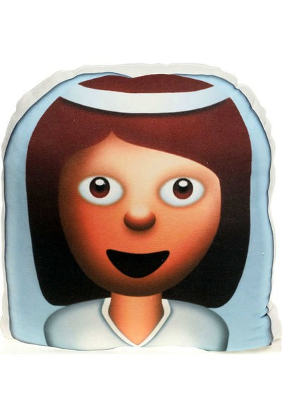 Hediye Mucidi Gelin Kız Emoji Yastık