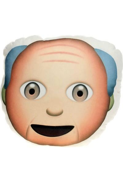Hediye Mucidi Yaşlı Dede Emoji Yastık