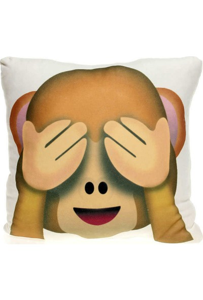 Hediye Mucidi Gözlerini Kapayan Maymun Emoji Yastık