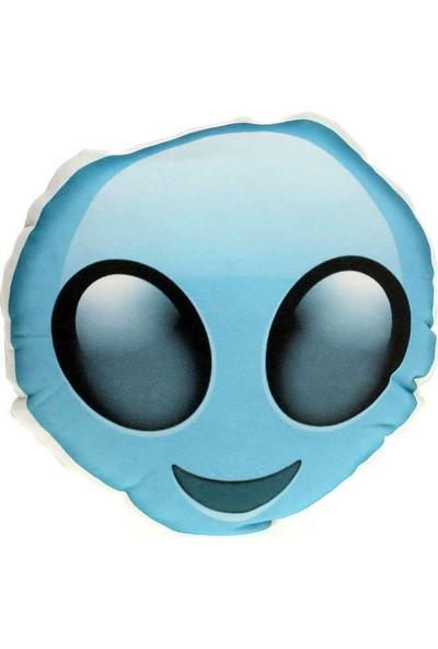 Hediye Mucidi Alien Emoji Yastık