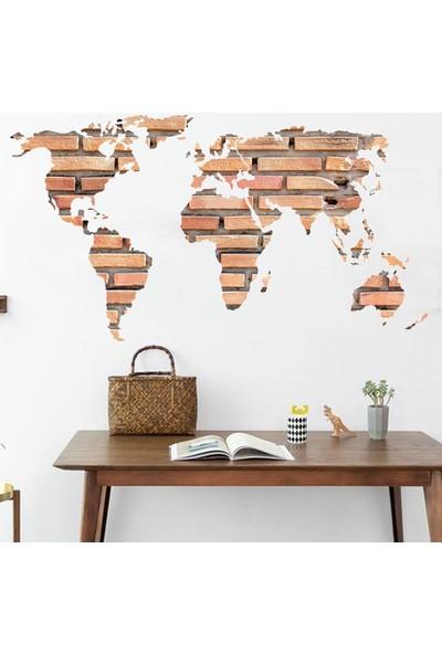 Crystal Kids Dünya Haritası Atlas PVC Sticker