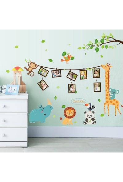Crystal Kids Bebek ve Çocuk Odası Resim Fotoğraf Çerçeveli Sevimli Hayvanlar PVC Duvar Sticker