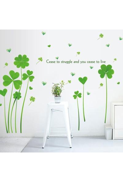 Crystal Kids Dört Yapraklı Yonca Şanslı PVC Duvar Sticker
